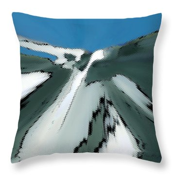 Winter In The Mountains Throw Pillow by Ben and Raisa Gertsberg