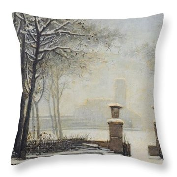 Winter Landscape Throw Pillow by Alessandro Guardassoni