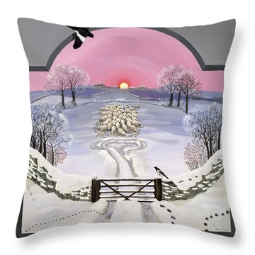 Winter Throw Pillow by Maggie Rowe