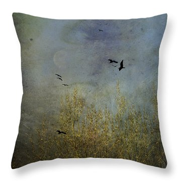 Winter Song Throw Pillow by Diane Schuster