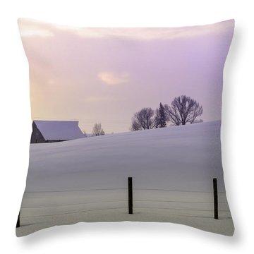 Winter Sunrise Throw Pillow by Teri Virbickis