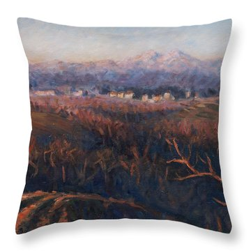 Winter Sunset In Brianza Throw Pillow by Marco Busoni