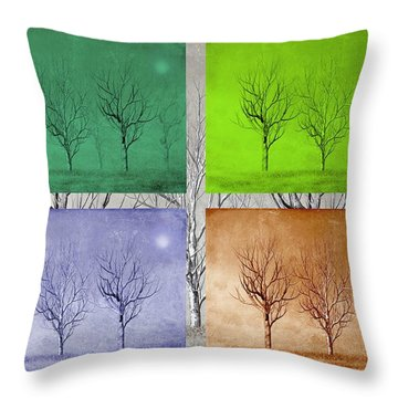 Winter Trees  Throw Pillow by David Dehner