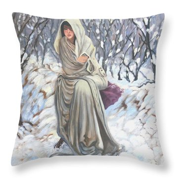 Winter Wonderland Throw Pillow by Caroline Street