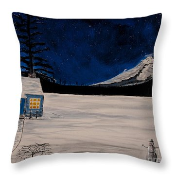 Winter's Eve Throw Pillow by Ian Donley