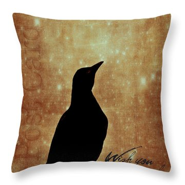 Wish You Were Here 1 Throw Pillow by Carol Leigh