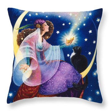 Wishes Throw Pillow by Lynn Bywaters