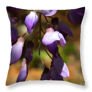 Wisteria 2 Throw Pillow by Andrea Anderegg