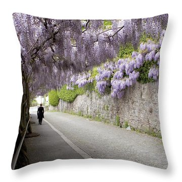Wisteria Lane Throw Pillow by Colleen Williams