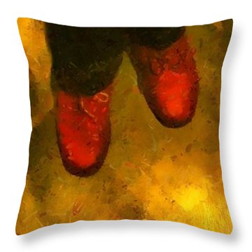 Witch Walking Throw Pillow by RC DeWinter