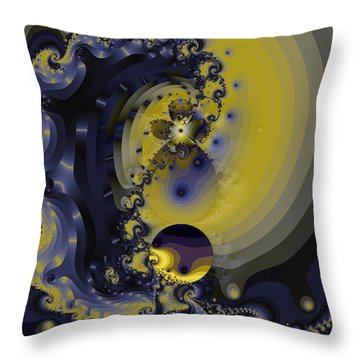 Within A Wave Throw Pillow by Elizabeth McTaggart