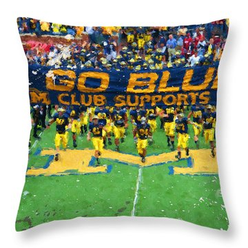 Wolverines Rebirth Throw Pillow by John Farr