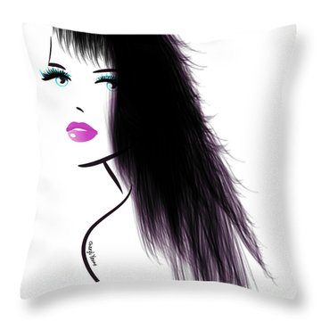 Woman 5 Throw Pillow by Cheryl Young
