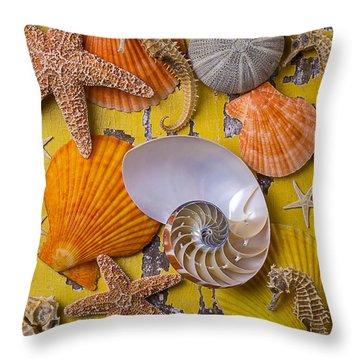 Wonderful Sea Life Throw Pillow by Garry Gay
