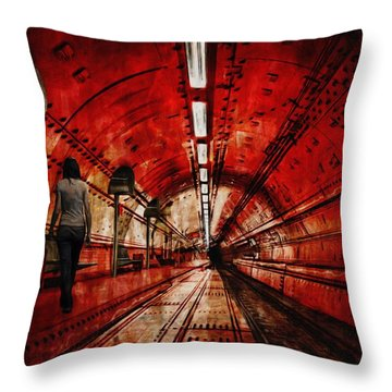 Wondering Throw Pillow by Jack Zulli
