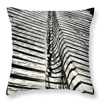 Wooden Sculpture In Palm House Kew Gardens Throw Pillow by Lenny Carter