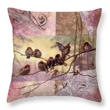 Woodland Flight Throw Pillow by Tamyra Crossley