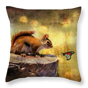 Woodland Wonder Throw Pillow by Lois Bryan