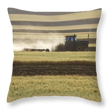 Working Farmer Throw Pillow by James BO  Insogna