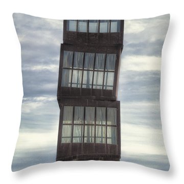 Wounded Star Throw Pillow by Joan Carroll