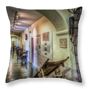 Woven Stretcher  Throw Pillow by Adrian Evans