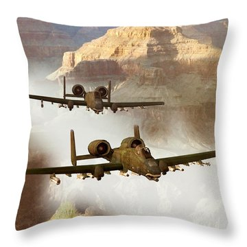 Wrath Of The Warthog Throw Pillow by Dieter Carlton