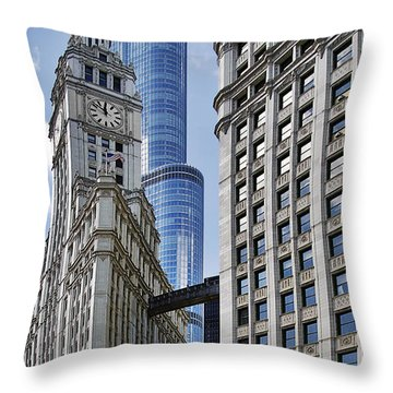 Wrigley And Trump In Harmony Throw Pillow by Christine Till
