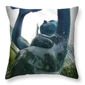 Wringing Out The Towel Throw Pillow by Halifax photography by John Malone