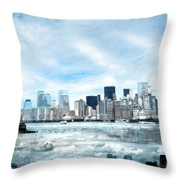 Wrong Expectations New York City Usa Throw Pillow by Sabine Jacobs