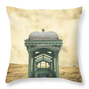 Wrong Train Right Station Throw Pillow by Edward Fielding