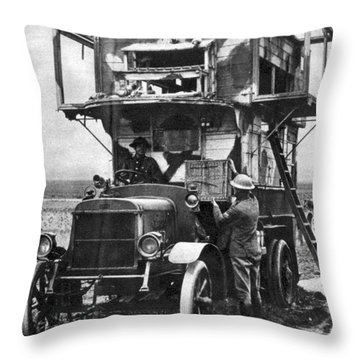 Wwi British Carrier Pigeon Loft Throw Pillow by Photo Researchers