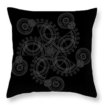 X To The Sixth Power Inverse Throw Pillow by DB Artist
