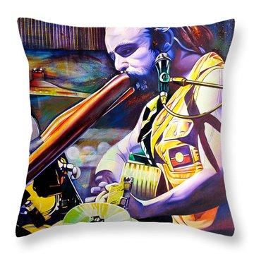 Xavier Rudd Throw Pillow by Joshua Morton