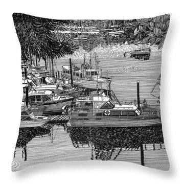 Port Orchard Yacht Club Cruise To Vashon Island Throw Pillow by Jack Pumphrey