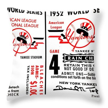 Yankees 4th Straight - Modern Throw Pillow by Benjamin Yeager