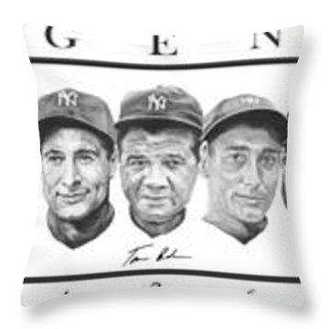 Yankees Throw Pillow by Tamir Barkan