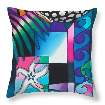 Yau Ni Viti Vi Throw Pillow by Maria Rova