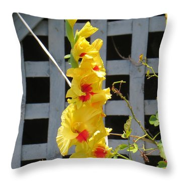 Yellow Grandeur Throw Pillow by Sonali Gangane