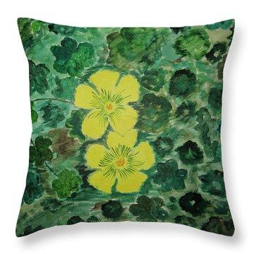Yellow Magic  Throw Pillow by Sonali Gangane