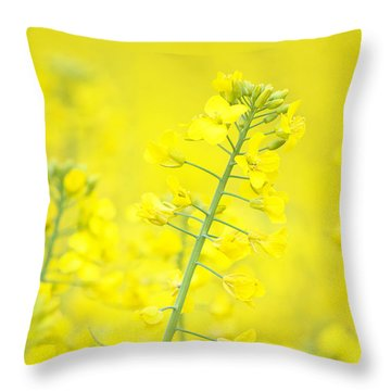 Yellow Makes Me Happy Throw Pillow by Angela Doelling AD DESIGN Photo and PhotoArt