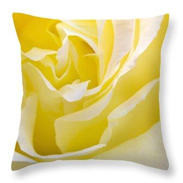 Yellow Rose Throw Pillow by Svetlana Sewell