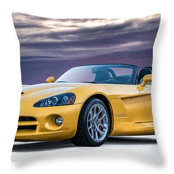 Yellow Viper Convertible Throw Pillow by Douglas Pittman
