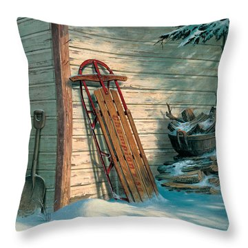 Yesterday's Champioin Throw Pillow by Michael Humphries