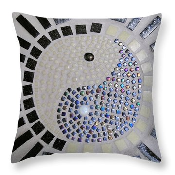 Yin And Yang Throw Pillow by Lisa Brandel