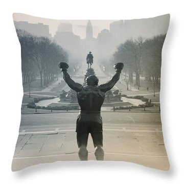 Yo Adrian Throw Pillow by Bill Cannon