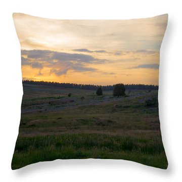 Yorkshire - Sheepwash Osmotherley Throw Pillow by Scott Lyons