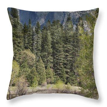 Yosemite National Park. Half Dome Throw Pillow by Juli Scalzi
