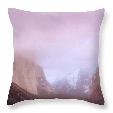 Yosemite Valley Ca Usa Throw Pillow by Panoramic Images