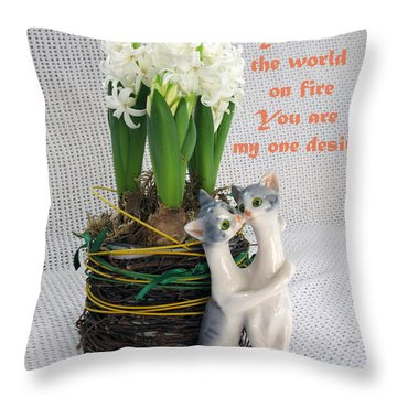 You Are My One Desire Throw Pillow by Ausra Huntington nee Paulauskaite