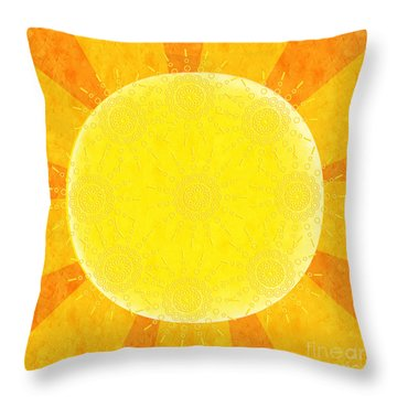 You Are The Sunshine Of My Life Throw Pillow by Andee Design
